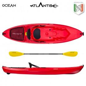 Kayak-canoa OCEAN ATLANTIS gialla- seggiolino + ruotino + pagaia OMAGGIO elastico per pagaia
