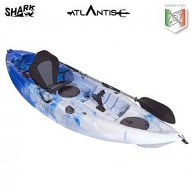 Kayak-canoa SHARK ATLANTIS blu- 2 gavoni + seggiolino + pagaia  + portacanna