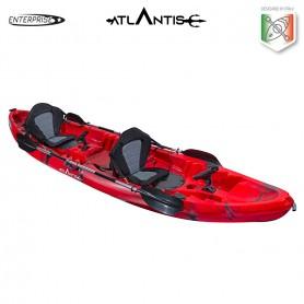 Kayak-canoa 2 posti ENTERPRISE ATLANTIS rosso - 2 gavoni + 2 seggiolino + 2 pagaie + 2 portacanne