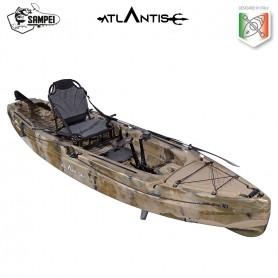 Kayak-canoa a pedali SAMPEI ATLANTIS  - 3 gavoni +  seggiolino + pagaia + timone