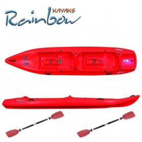 Kayak 2 posti Rainbow FUNNY TWIN NEW + 2 pagaie