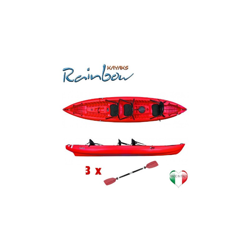 Kayak 2-3 posti Rainbow ORCA EXPEDITION + 3 pagaie