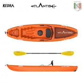 Kayak-canoa Atlantis KEDRA arancio - seggiolino + gavone + ruotino + pagaia