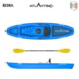 Kayak-canoa Atlantis KEDRA blu  cm 268 - schienalino - gavone - ruotino - pagaia