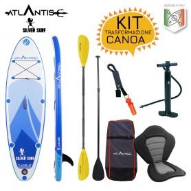 Sup Atlantis SILVER SURF - completo di zaino - pagaia - pompa e leash