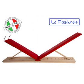 Panca in legno La Posturale standard terra colore rosso