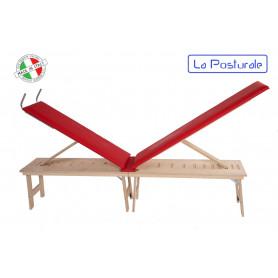 Panca in legno La Posturale standard con gambe colore rosso