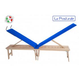 Panca in legno La Posturale standard con gambe colore blu