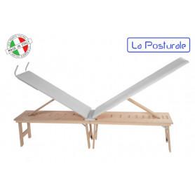 Panca in legno La Posturale standard con gambe colore bianco