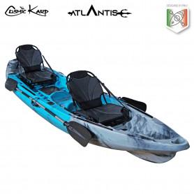 Kayak-canoa Atlantis COSMIC KARP cm 390 azzurra/grigia - 2 gavoni - 2 seggiolini - 2 pagaie