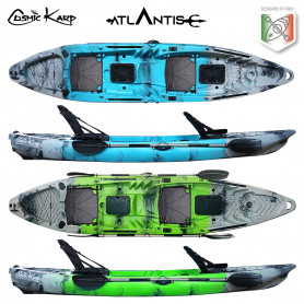 Kayak-canoa Atlantis COSMIC KARP cm 390 - 2 gavoni - 2 seggiolini - 2 pagaie