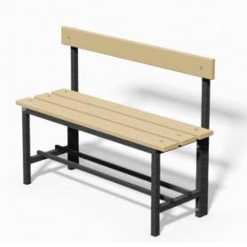 Panca spogliatoio in acciaio con seduta e schienale  1mt