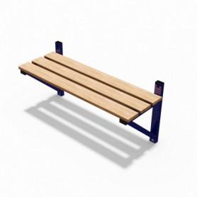 Panca spogliatoio in acciaio solo seduta, modello a mensola 1 mt