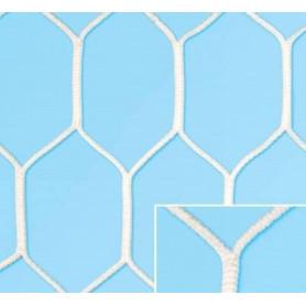 Coppia reti calcio in nylon poliamide testurizzato stabilizzato U.V. diam. 6 mm. Mod. esagonale extra