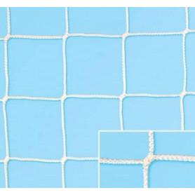 Coppia reti calcio ridotte per porte 5x2 in treccia polipropilene diam. 3 mm. stabilizzato U.V., lavorazione senza nodo