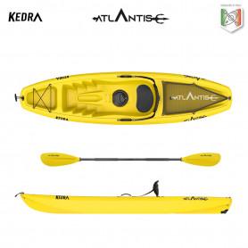 Kayak-canoa Atlantis KEDRA  gialla  cm 268 - seggiolino - gavone - ruotino - pagaia
