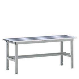 Panca spogliatoio in alluminio solo seduta 1 mt inserto pvc blu