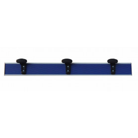 Appendiabiti in alluminio a parete 1 mt inserto pvc blu