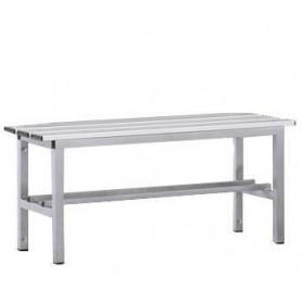 Panca spogliatoio in alluminio solo seduta 1 mt