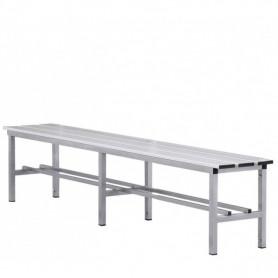 Panca spogliatoio in alluminio solo seduta 2 mt