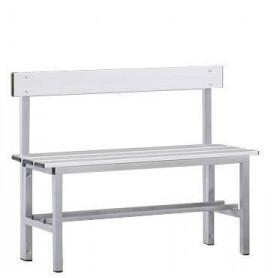 Panca spogliatoio in alluminio con seduta e schienale 1 mt