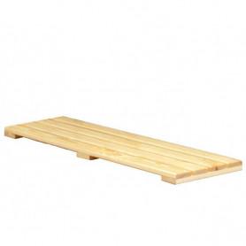 Pedana poggiapiedi a listoni di legno 1 mt