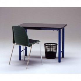Tavolo per spogliatoio piano sagomato in gomma 100x60 cm