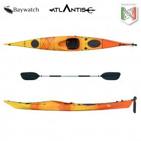 Kayak-canoa Atlantis BAYWATCH - cm 450- timone - 1 seduta - 2 gavoni - 1 pagaia