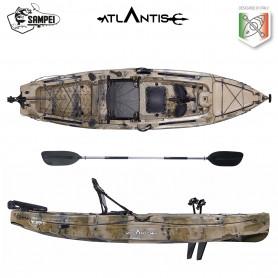 Kayak-canoa a pedali Atlantis SAMPEI cm 323 - 2 gavoni -  seggiolino - pagaia - timone