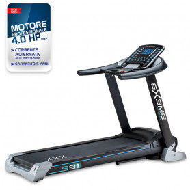 Tapis roulant Ex3me fitness S91 motore 2.5 hp AC