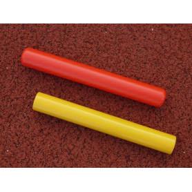 Testimone per staffetta in plastica colorata. Kit 5 pezzi