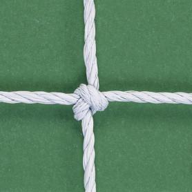 RETI CALCIO ANNODATE-corda HDPE Ø 2,8 col.bianco-regolamentare- EN748 classe B
