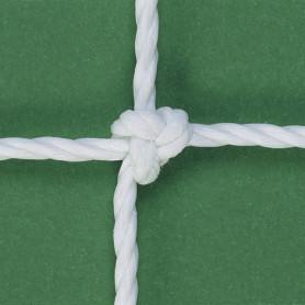 RETI CALCIO ANNODATE corda HDPE Ø 3,8 col.bianco -regolamentare-EN748 classe A