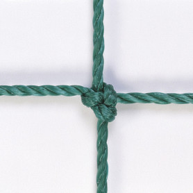 RETI CALCETTO MT 3X2 ANNODATE  corda HDPE Ø 2,8 - col.verde  EN749  classe B