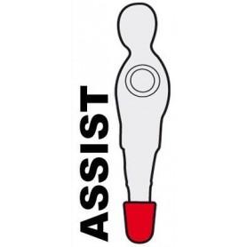 ASTA PASSANTE 3 OMETTI ROSSO  ASSIST