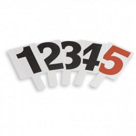 SERIE PALETTE SEGNAFALLI IN PVC numerate 1-5