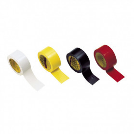 NASTRO ADESIVO  PVC segnatura campi – rosso-bianco-giallo-nero