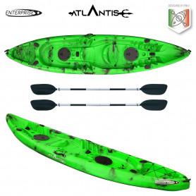 Kayak - canoa 2 posti Atlantis ENTERPRISE cm 385 verde/nera - 2
