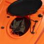 Kayak-canoa Atlantis WAVE arancio cm 305 - 2 gavoni - schienalino - pagaia - ruotino - portacanna