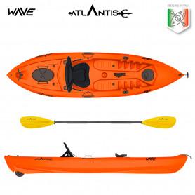 Kayak-canoa Atlantis WAVE EVOLUTION arancio cm 305 - 2 gavoni -