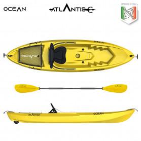 Kayak-canoa Atlantis OCEAN EVOLUTION gialla  cm 266 - seggiolino - ruotino - pagaia