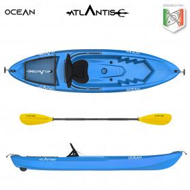 Kayak-canoa Atlantis OCEAN EVOLUTION blu cm 266 - seggiolino - ruotino - pagaia