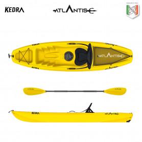 Kayak-canoa Atlantis KEDRA EVOLUTION gialla  cm 268 - seggiolino - gavone - ruotino - pagaia