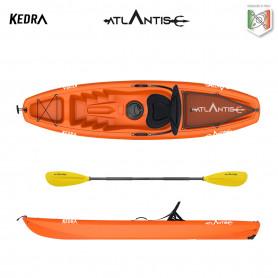 Kayak-canoa Atlantis KEDRA  EVOLUTION arancio  cm 268 - seggiolino - gavone - ruotino - pagaia