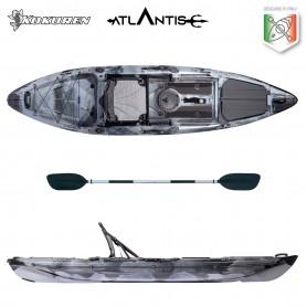 Kayak-canoa Atlantis KOKUREN grigio/nero - cm 330 - seggiolino - portacanna - pagaia