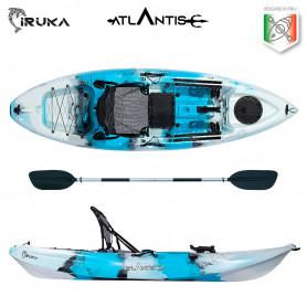 Kayak-canoa Atlantis IRUKA blu/bianco - cm 285 - seggiolino - portacanna - pagaia