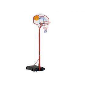 Tabellone basket Detroit (con colonna e base zavorrabile)  H. 210-260 cm.