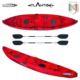 Kayak - canoa 2 posti Atlantis ENTERPRISE cm 385 rossa/nera - 2