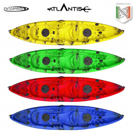 Kayak - canoa 2 posti Atlantis ENTERPRISE cm 385 - 2 gavoni - 2