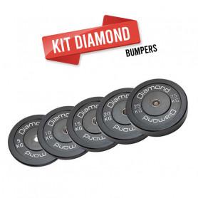 KIT 90 kg Dischi  bumper training Pro foro 50 mm Diamond Professional